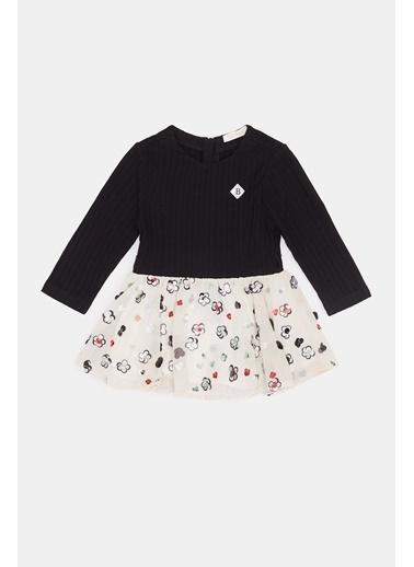 BG Baby Kız Bebek Siyah Elbise 20Fw0Bg2907 Siyah